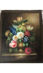 Tela con fiori